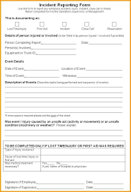 Workplace Incident Report Template Work Form First Aid Fresh