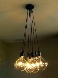 bulb hanging light pendant fixture fixtures lights