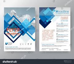 Business Templates Creative Design Abstract Blue Stock Vector