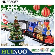 christmas tree decorating clical electric toy train sets with light hn808057