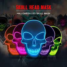 Light Up Skull Mask Skull Mask Led Thespiritcostumes