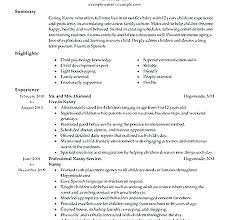 Good Nanny Resume Sample Nanny Resumes Skills Good Sample Resume Of Delectable Nanny Resume Skills