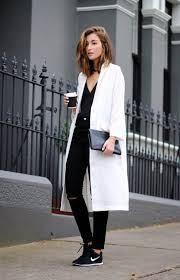 black and white outfit via