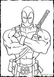 Small Picture Deadpool Coloring Pages GetColoringPagescom