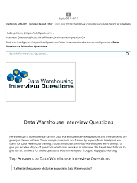 Data Warehouse Resume Examples Business Objects Blogs Data Warehouse Interview Questions Pics 31