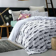 Shark Duvet Cover Blue Shark Quilt Set Shark Duvet Cover Double ... & shark duvet cover sleep with the fishes and live to tell the tale thanks to  this . shark duvet cover ... Adamdwight.com