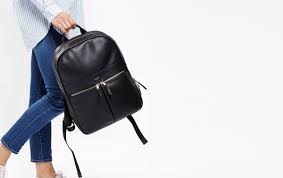 Рюкзак knomo beaux leather backpack 14 black kn 120 401 blk