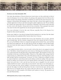 tips for writing the slavery essay topics page 2 pro slavery argument essay africa