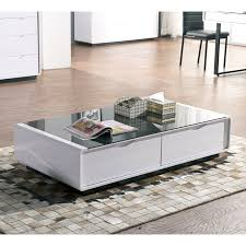 maestro coffee table white high gloss w black glass top fine tables uk