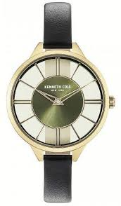 women s kenneth cole new york transparency black leather band watch kc50538007 loading zoom