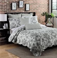 black toile bedding