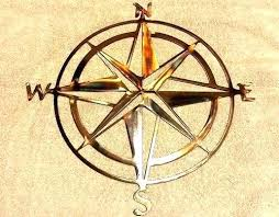 nautical compass wall decor metal compass wall art metal wall art plasma cut nautical compass silhouette home decor red metal metal nautical compass wall