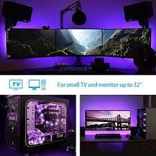 tv accent lighting. Megulla Bias TV Lighting Kit Accent/Ambient Precut USB LED RGB Strip Lights Tv Accent N
