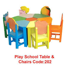 School Table And Chairs Wood Play School Round Table With Chairs