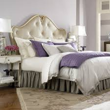 Purple Bedroom Lamps Bedroom Luxury White Bed Plus Purple Accents Between White Table