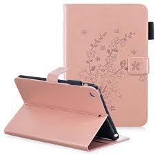 ipad mini 3 case ipad mini 2 case ipad mini case allytech pu leather flower embossed slim shell magnetic multi angle stand folio style cards slots wallet