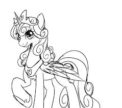 My Little Pony Coloring Pages Flurry Heart Jerusalem House
