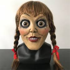 Hot New Movie Annabelle 3 <b>Mask</b> Cosplay Props <b>Halloween Baby</b> ...
