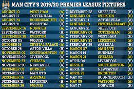 Manchester City Fixtures Tickets