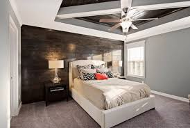cozy blue black bedroom bedroom. Bedroom Accent Wall Ideas Fancy Round Glass Jar Cozy Dark Brown Leather Single Seater Sofa Tall White Bedside Lamp Ornamental Pear Shaped Blue Black