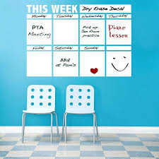 weekly calendar dry erase board dry erase calendar decal for walls zoom weekly wall calendar dry