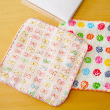 child gauze of the mini handkerchief present souvenir gift in return parting woman made in cocowalk here walk gauze handkerchief gift box five sets