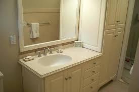 bathroom vanity and linen cabinet vanity linen cabinets with matching mirror frame white bathroom vanity linen