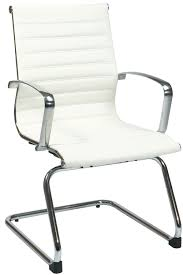 office star modern white eco leather visitors chair