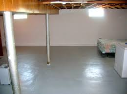 image of basement paint design before painting a basement wall