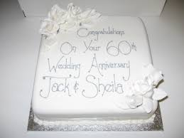 60th Wedding Anniversary Cake Images