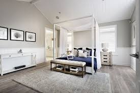white and grey bedroom furniture. This Gorgeous Contemporary Bedroom Accentuates The High Ceilings With A Lovely White Canopy Bed. And Grey Furniture N