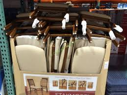 outstanding stakmore solid wood folding chair with padding seat costcochaser inside padded folding chairs costco ordinary