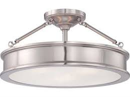 minka lavery harbour point brushed nickel 19 wide three light semi flush
