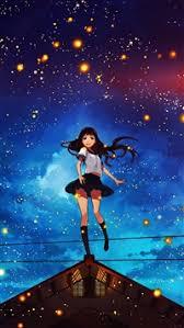 anime wallpaper iphone 6 plus. Modren Wallpaper 1151 3 Girl Anime Star Space Night Illustration Art Flare IPhone 6s8  8 Wallpaper Inside Iphone 6 Plus