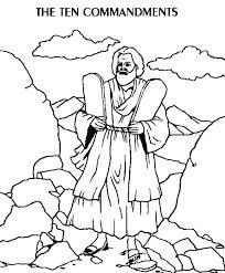 Coloring Pages 10 Commandments Commandments Coloring Page Bible