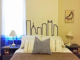make a cityscape design from washi tape