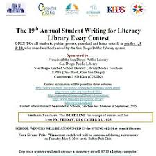 the th annual writing for literacy essay contest kpbs sdpl essay contest flyer