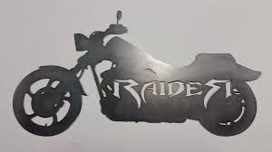 cut from 12ga mild steel unfinished 24 w x 12 h 38 00 plus 18 00 for shipping and handling  on raiders metal wall art with raider metal wall art