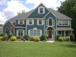 perfect looks like hamilton blue with antique white trim and shutters with green  houses with white trim