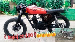Its one of the best fuel saving. Full Modification Of Bajaj Ct 100 Like A Cafe Racer Youtube