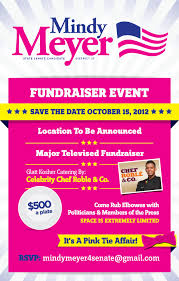 political fundraiser invite giving the elephant a pink manicure a night out with meyer