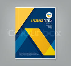 vector book cover design background abstract yellow line design on blue background template for business