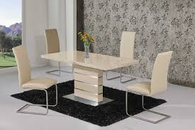 dazzling cream dining table set 21 gloss and chairs room sets regarding extending dining room table
