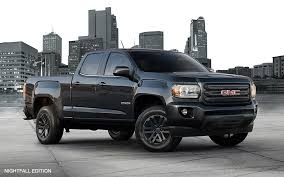 2018 gmc lifted trucks. simple 2018 exterior image from the front of 2018 gmc canyon nightfall edition  small pickup truck inside gmc lifted trucks e