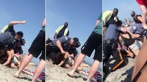 Woman Beach Punching On Jersey Cop Shows New Vice Video 20-year-old -