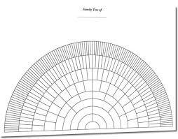 Genealogy Fan Chart A3 Eight Generation Half Circle Fan Chart S N Genealogy
