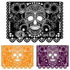 Papel Picado Designs For Day Of The Dead Day Of The Dead Ecoration Papel Picado Royalty Free Stock