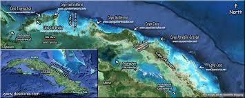location and maps cayo las brujas, cuba Cayo Ensenachos Map click to see aerial view of the king's gardens archipelago cayo ensenachos weather