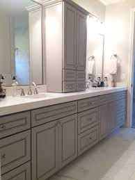 Bathroom Bathroom Vanities With Tower Cabinets Together With White
