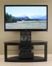 Image is loading TransDeco-TV-Stand-w-Universal-Mount-35-80- TransDeco TV Stand w/ Universal Mount 35 - 80 Inch LCD LED NEW